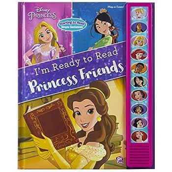 Disney Princess Belle Mulan Cinderella Rapunzel and More! - I m Ready to Read Princess Friends Sound Book