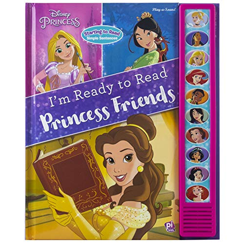 Disney Princess Belle, Mulan, Cinderella, Rapunzel, and More! - I'm Ready to Read Princess Friends Sound Book