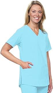 BOGO Sale-Classic V-Neck Nursing, Medical, Dental, Women's Stretch Scrub Top