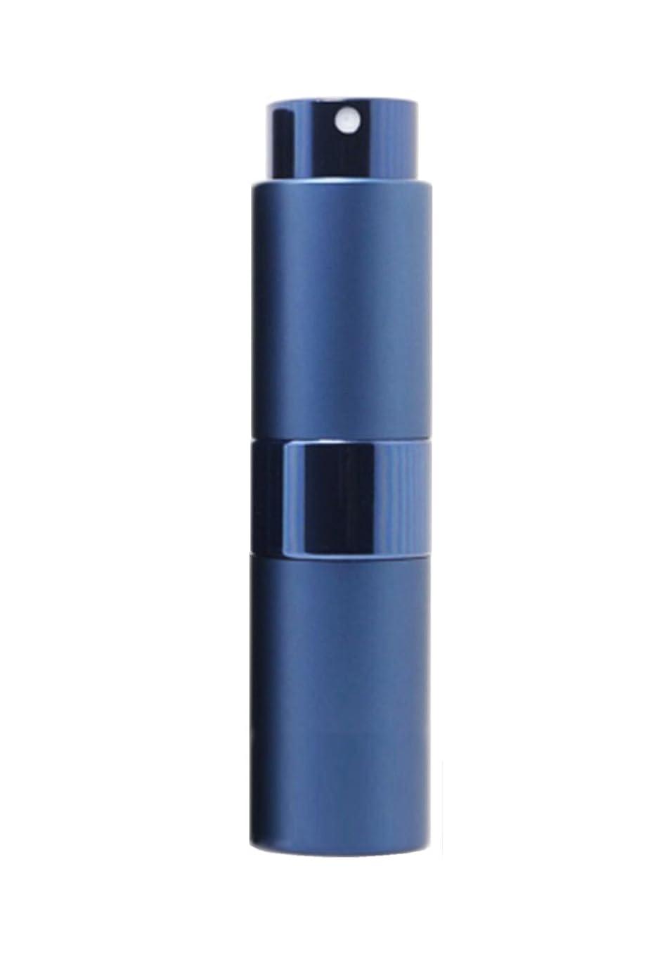仮説来て演劇NYSh 香水 アトマイザー プッシュ式 スプレー 詰め替え 携帯 身だしなみ メンズ 15ml (ブルー)