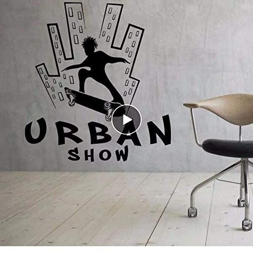 Urban Skate wandsticker extreme sport vinyl muur sticker tiener jongens kamer Decor verwijderbare schaats Urban Show muur poster 57 * 62 cm