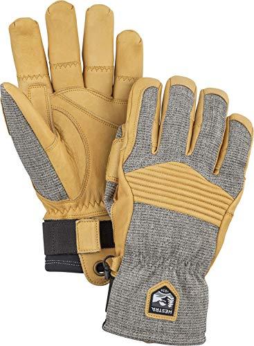 HESTRA Army Leather Couloir Handschuhe, gra/svart