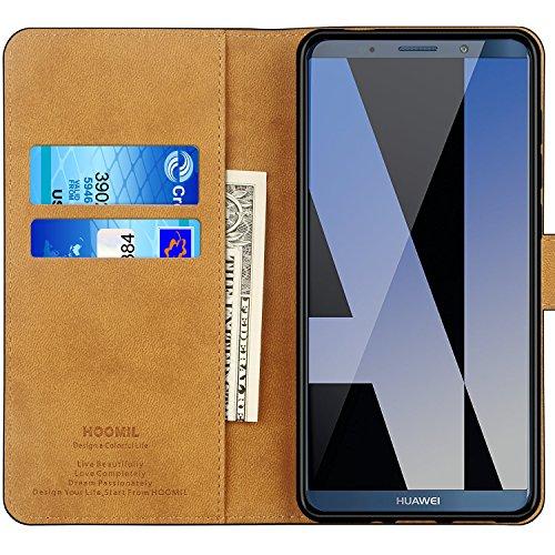 HOOMIL Handyhülle für Huawei Mate 10 Pro Hülle, Premium PU Leder Flip Schutzhülle für Huawei Mate 10 Pro Tasche, Schwarz - 2