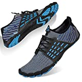 Zapatos de Agua Hombre Mujer Secado Rápido Antideslizante Adulto Senderismo Buceo Surf Zapatos de Playa para Ejercicio Acuático(Fd SL Gris,44 EU)