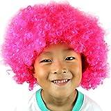 YueLove Party Disco Lustige Afro Clown Haar Fußball Fan-Kids Afro Maskerade Haar Perücke Lockenkopf Lockenperücke Rasta Afroperücke für Karneval und Fasching