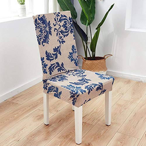 LLAAIT 1/2/4/6pcs Modern Printed Chair Cover Elastic Seat Chair Covers Removable and Washable Stretch Banquet Hotel Dining Room Cover