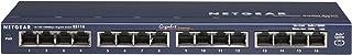 Netgear ProSafe Unmanaged 16-Port Gigabit Ethernet Desktop Network Switch, Blue, GS116AU