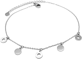 Les Trésors De Lily Q0918 - Catena pegging in acciaio 'Chorégraphie' argento - tondo 6 mm.