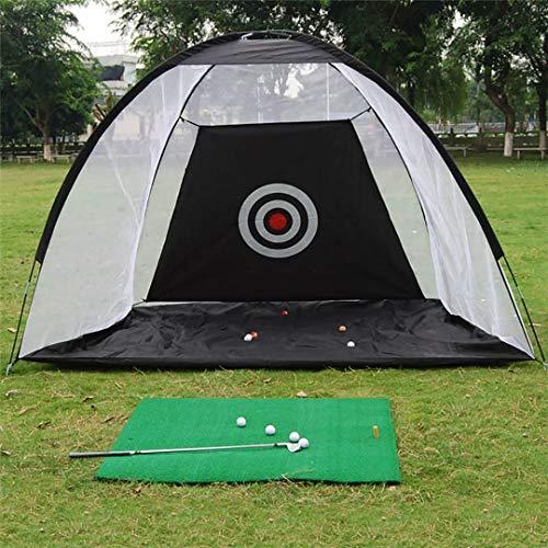 FLY CC Golf Driving Net, Outdoor Portable Foldable Golf Hitting Practice Net, Indoor Garden Trainer Protective Net Swing Practice Net Exercise Equipment,Black,3.3ft