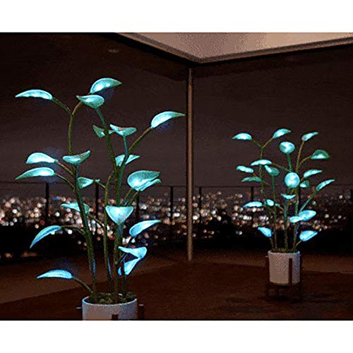 The Magical Led Houseplant - Artificial Plants for Home Decor Indoor 100 Programmable LEDs Automatically Illuminated Artificial Plants for Home Decor Indoor, Bonsai Houseplant Light (100 Programmable)