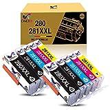 ONLYU Compatible Ink Cartridges Replacement for Canon 280 281 PGI-280XXL CLI-281XXL for PIXMA TR7520 TR8520 TS6120 TS6220 TS6320 TS8120 TS8220 TS9120 TS9520 TS9521C Printer (10 Pack)