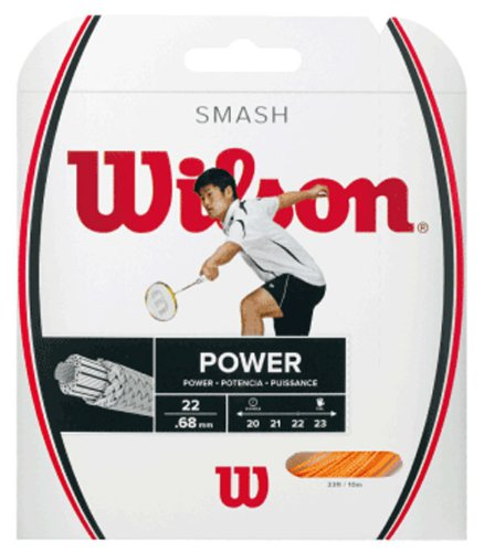 Wilson Badminton-Saite, Smash 66, 10 Meter, 0,68 mm Dicke, Orange, WRR9429OR