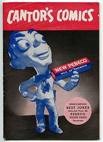 CANTOR'S COMICS 1936-LEHN & FINK-PEBECO TOOTHPASTE-BEYOND RARE-fn/vf
