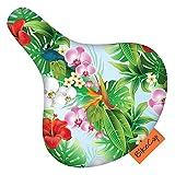 BikeCap Bike Seat Cover, Coprisedile per Bicicletta, Motivo Floreale, Misura L, Colore: Verde Unisex-Adulto