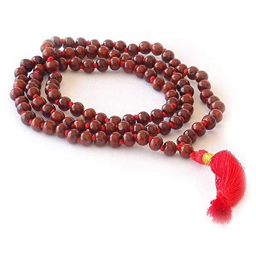 Price comparison product image HealthAndYoga(TM) Mala Beads - Rose Wood