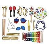 Niños Instrumentos de Juguete Juguete del Instrumento Musical Music Kit niños de Juguete Regalo para niños y niñas (Color : Multi-Colored, Size : Set)