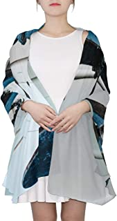 Old Sailing Ship Anchor In The Port Unique Fashion Scarf For Women Lightweight Fashion Fall Winter Print Scarves Shawl Wraps Gifts For Early Spring