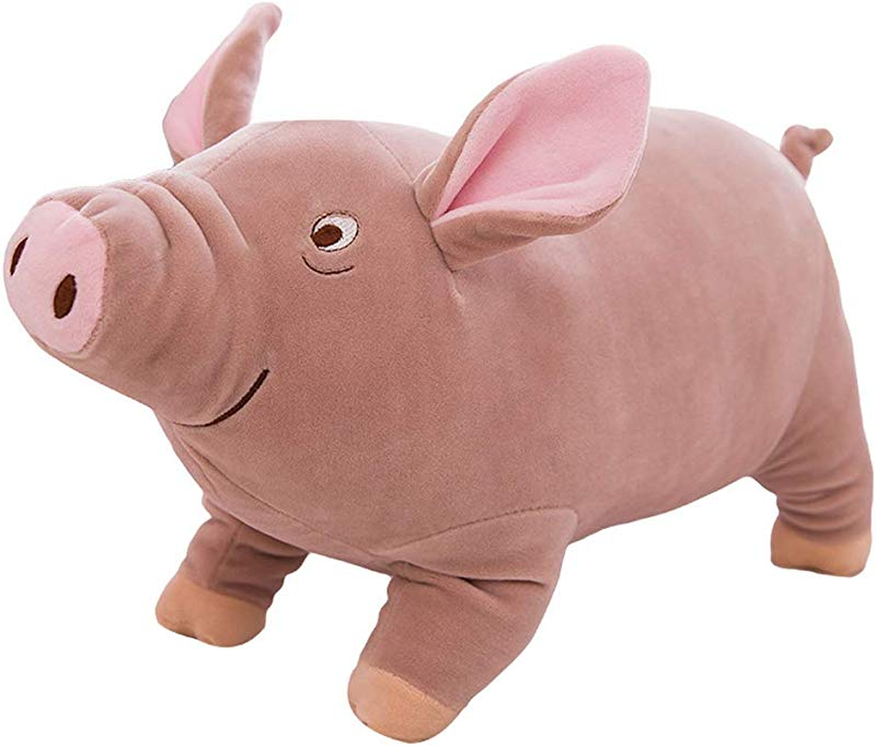 Tounlinx Pig Plush Doll Soft Cuddly Piggy Toy Farm Stuffed Animal Piggy Pillow Funny Bed Nursery Decoration Play Toy Baby Childrens Girl Cuddle Pillow For Girlfriend