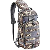 G4Free Tactical Sling Backpack Kit, Molle Chest Shoulder Pack Small Rover Range One Strap Daypack Military EDC Development Bag(ACU)