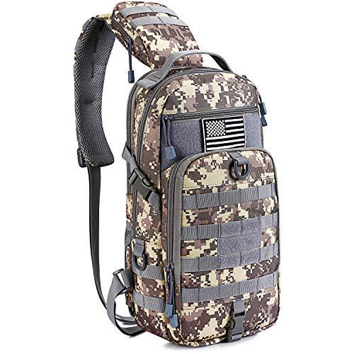 G4Free Kit de sac à dos tactique Molle poitrine Sac à bandoulière Petit Rover Range One Strap Sac de développement militaire EDC (ACU)