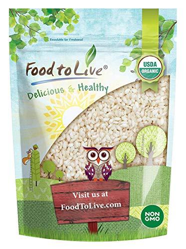 Organic White Arborio Rice, 1 Pound - Non-GMO, Kosher, Vegan, Raw, Dried, Bulk, Perfect for Risotto, Italian Style