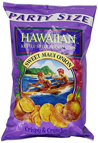 Tims Cascade Hawaiian Chips Maui Onion, 16 oz, Hawaiian Kettle Style Potato Chips, Sweet Maui Onion, 8 Ounce