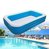 Maoviwq Piscina al aire libre PVC Piscina inflable al aire libre Jardín familia verano Piscina de tierra para interior al aire libre piscina fiesta