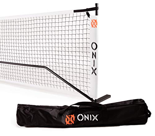 Onix Pickleball 2-in-1 Regulation-Size Portable Net and Practice Net Set Includes Carrying Case with Wheels