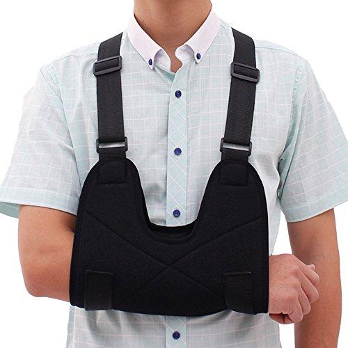 Liitrton Arm Sling Breathable Shoulder Immobilizer Supports Braces Relieve Shoulder Pain with Adjustable Split Strap (Adult)