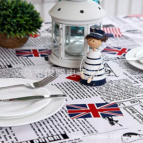 langchao Modern minimalistisch katoen dikke canvas witte vlag Anglo-Amerikaanse Franse salontafel tafelkleed