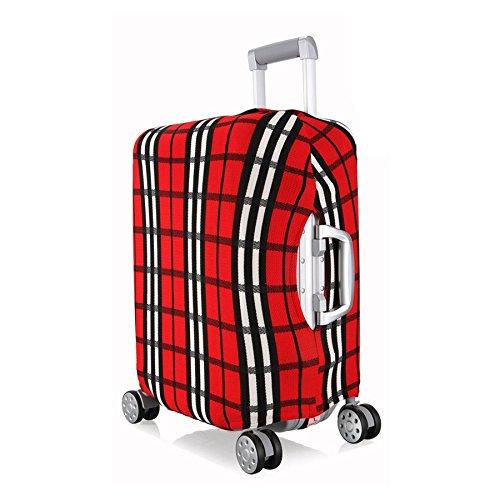 OneSky-UK Copertura del bagagliaio, pieghevole durevole protettivo lavabile pieghevole, formato del protettore della valigia misura 18-28 pollici (#4 (Striscia di griglia) L(24''))
