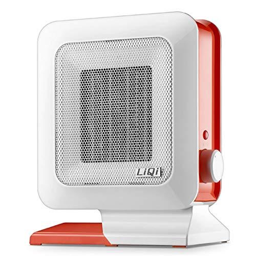 Tragbare Elektrische Einstellbare Thermostat-Lüfte Tragbare Miniheizung Energieeinsparung und wasserdicht elektronisch mit einstellbarer Temperatur- und Geschwindigkeitsheizung for Büro geeignet