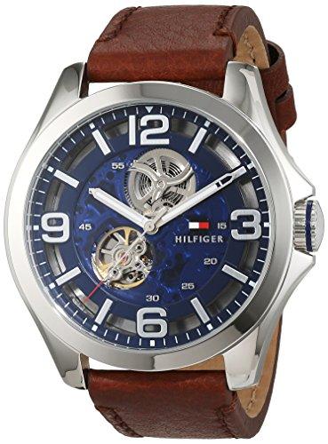 Tommy Hilfiger Sophisticated Sport 1791278- Reloj de pulsera para hombre automático, correa de piel marrón