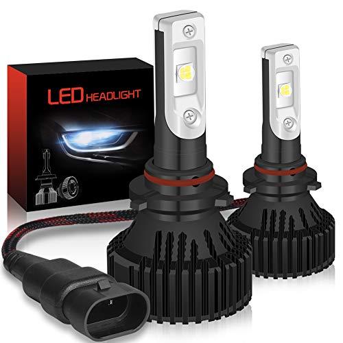 KATUR 9005 9006 H10 Ampoules de phares LED Kit de Conversion de phares à Del Tout-en-Un étanches Super Brillants 16000LM, Blanc, 60W 6500K Blanc - Garantie de 3 Ans