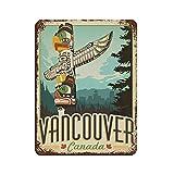 Vintage Retro Reise Poster Vancouver Retro Poster Metall