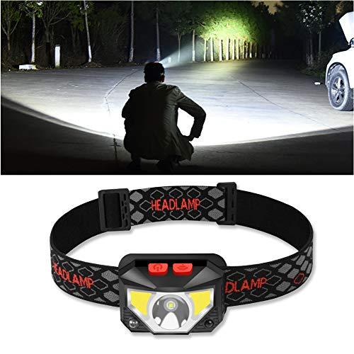 Preisvergleich Produktbild Stirnlampe LED USB Wiederaufladbare,  Sensor Kopflampe Wasserdicht Super hell,  Mini Leicht Stirnlampen Kopfleuchte,  6 Modi Perfekt fürs Outdoor Kinder Sport Joggen Laufen Angeln