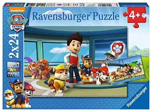 Ravensburger - 9085 - Lot de 2 Puzzles - Pat Patrouille - 24 Pièces