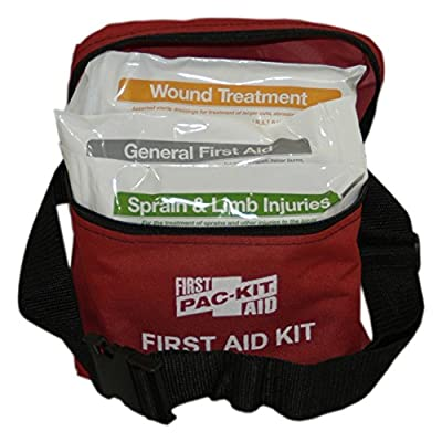 Pac-Kit 7119 78 Piece First Aid Kit with Fabric Fanny Pack by Pac-Kit