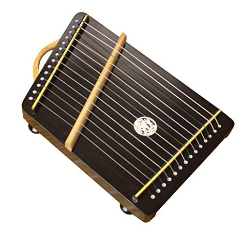 N /A Guzheng, Mini Guzheng, Guzheng Finger Trainer mit Zubehör, Protable, Größe: 40 x 25 cm, 14 Streicher, Geeignet for Anfänger, Erwachsene, Kinder,