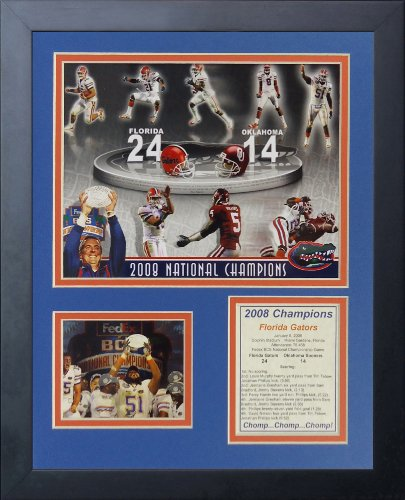 "Legends Never Die ""2008 Florida Gators National Champions Framed Photo Collage, 11 x 14-Inch"