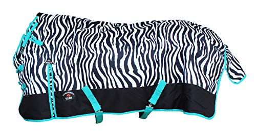 CHALLENGER 78' 1200D Turnout Waterproof Horse Tough Winter Blanket Heavy Teal 547G
