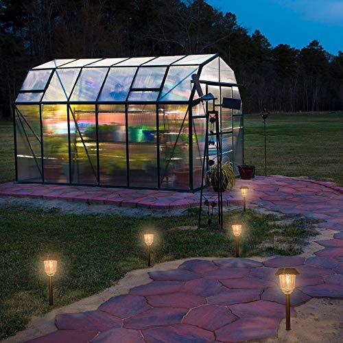 Solar Lights Pathway - Solar Pathway Lights 4 Pack, LED Landscape Lights Outdoor, IP65 Waterproof 8-10 Hours Long Last 10-40 Lumens Adjustable Warm White Pathway Lights for Garden, Path, Yard