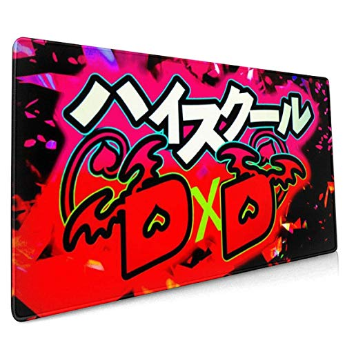 High School DXD Office,Study,Desk Mat,Shopping,Gaming Mouse Pad,Stitched Edges,Oversized Non-Slip Rubber,Extended Game Racing Mouse Pad 40 X 90 cm (15.8x35.5 Inches)