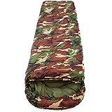 SOLVHK Saco de Dormir Saco de Dormir de algodón Que acampa 15~5 Grados de Estilo de Sobres del ejército o Bolsas de Dormir Militares o de Camuflaje