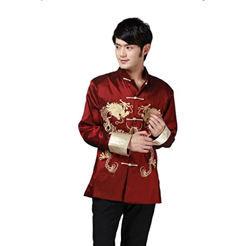 Mens Traditional Chinese New Year National Dress Fancy Dress Costume Outfit
