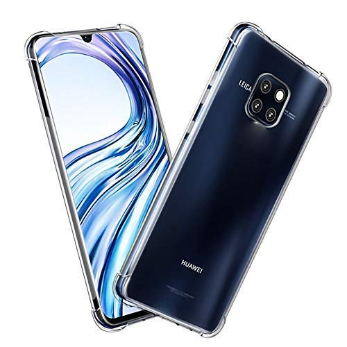 Amazon Brand - Solimo Mobile Cover (Soft & Flexible Shockproof Back Cover with Cushioned Edges)Transparent for Huawei Mate 20 Pro