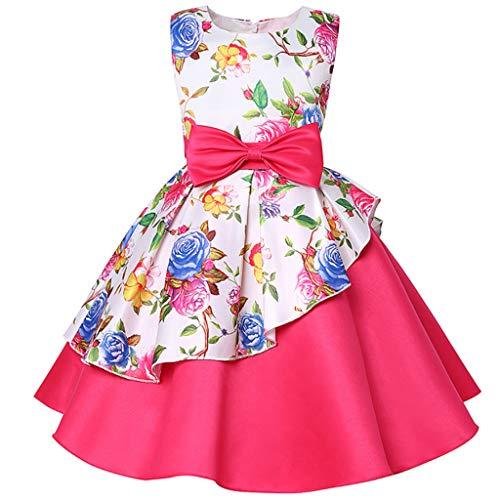 fhdjcn Mädchen Brautjungfer Abendkleider Baby Party Kleid Blume Tutu Hochzeit Kind Prinzessin