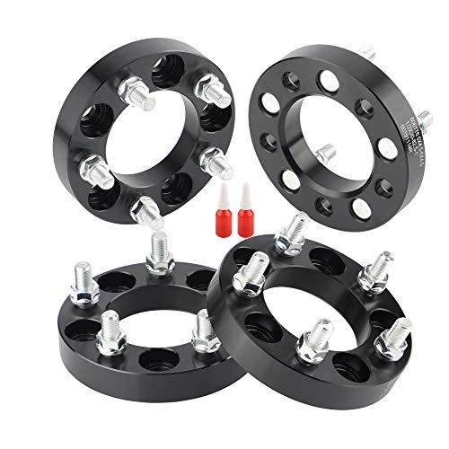 Rying 5x4.5 Wheel spacers for YJ TJ XJ KJ KK TY, 1 inch 82.5mm CB 5x114.3mm Wheel Spacers for Jeep Ford Selected Vehicles with 1/2 Studs, Bonus Thread-Locking Adhesives