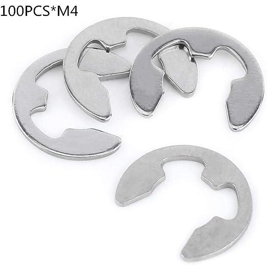 6 mm 1//4 Zoll E Clip Externer Sicherungsring C Clip DIN6799 Sicherungsring 10 St/ück