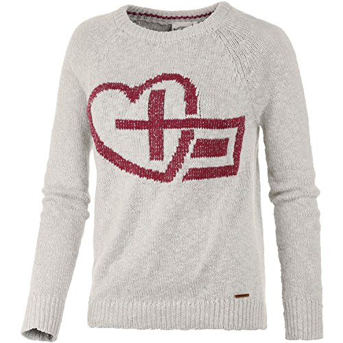 Chiemsee Damen Knit Pullover Kesarah, Mehrfarbig (Ivory/Red Apple/Rainy Day), XS, 1090204